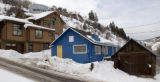 PHOTO SPECIAL TO THE ROCKY MOUNTAIN NEWS MINTURN - Old rustic buildings and homes reside next to a...