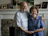 Dorothy and Don Mayer, both 82, cq, of Englewood, California, pose for a portrait at their home in...