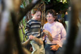 Tammy Blennis (cq) plays with her 3 year-old grandson Ronin Anderson (cq) at the Children's Museum...