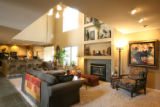 The family room of Denise and Brent Snyder's house.  Home Front is doing an Open House with Denise...