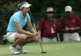 Amateur Brittany Lang, 19, was leading the 2005 Women's U.S. Open at 3 under until the 18th hole...