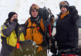 L TO R: Jim Mallory (CQ), Jerry Pietrilli (cq), and Mark Nelson (cq) all of Alpine Search and...