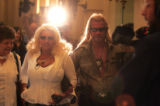 """Dog the Bounty Hunter""  Chapman and his wife Beth Chapman make their way to the..."