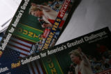 MJM227 Hillary Clinton mail brochures sit in the home of Carmen Hobbs (cq) of Aurora, Colo....