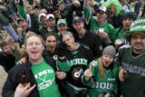 DM0100   North Dakota fans revel at Brooklyn's across the street from the Pepsi center before the...