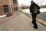 MJM107 Dan Sage (cq), 20, walks to his introduction to Algebra class at Front Range Community...