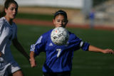 Grandview's Beth West (cq) gets the ball from Caroline Danneberg (cq) of Cherry Creek girls...