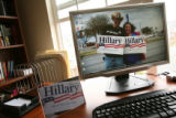 MJM243 Stoney White (cq), 31, of Denver, Colo., who is also known as Hillaryman, has his apartment...