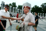 (Washington D.C. - SHOT 5/27/2004) World War II Army veteran and POW Elmer 'Doc' Shipman (center),...