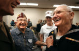 (Washington D.C. - SHOT 5/27/2004) Veterans (right to left) Bill Clark, 77, of Pagosa Springs;...
