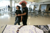 0134 Columbine High School students Chealsey Golla CQ, 16, Sophomore, Left, and Taylor Lucero, CQ,...