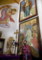DM0060   Father Radovan Petrovic conducts the service for St. John the Baptist Serbian Orthodox...