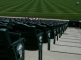 JOE083 Groundskeeper Charles Starkovich tends the grass at Coors Field on Thursday morning, April...