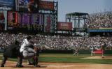 [ JOE0286 ] Colorado Rockies batter Troy Tulowitzki swings a pitch from Arizona Diamondbacks Micah...