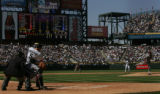 [ JOE0322 ] Colorado Rockies batter Matt Holiday fouls off a pitch during his first at-bat, which...