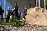 (LAFAYETTE, Colo., May 12, 2005) A speaker rock which plays music outside the main entrance of...