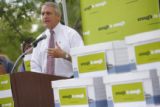 4652  Gov. Bill Ritter speaks at a rally for an initiative to end Colorado's $300 million subsidy...