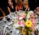 (Denver, Colorado, Aug. 15, 2008) Guests at the Hammell table chat before sitting for dinner.  F...