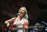 Sheryl Crow plays during Green Sunday at Red Rocks in Morrison on Sunday, August 24, 2008. The...