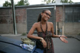 Joy Bryant (cq) stands outside Ditto Gallery on Speer and 12th streets Monday August 25, 2008....