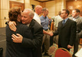 (seqn) Colorado Secretary of State Mike Coffman was given dozens of victory hugs after delivering...