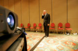 (seqn) Colorado Secretary of State Mike Coffman talks on his cell phone more than an hour after...