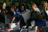(PG0241) Michelle Obama launches a delegate service day at Curtis Park on Wednesday, August 27,...