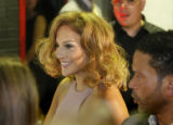 Jennifer Lopez arrives at Vinyl a Voto Latino Event  in Denver, Colo. August 27, 2008.   Rosario...