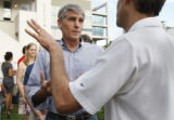 Congressman Mark Udall has a party to thank his volunteers in Denver ,Colo Thursday, August 7,...
