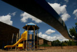 MJM120  Up to date playground equipment is seen Thursday 08/07/08 at Southmoor Elementary in...