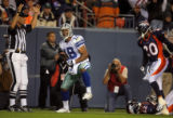 DM0484  Dallas Cowboys wide receiver Miles Austin celebrates after scoring a touchdown in the...
