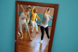 Boulder International Fringe Festival participants practice their movements inside the Eliot...