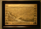 This old map of Denver from 1874 is in the office of West Brown (cq), Managing Director of St....