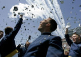 The roar of the United States Air Force Thunderbirds fills the air as newly-commissioned officer...