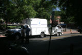 Jeffco Sheriff/Denver PD bomb squad deployment on the 1400 block of Ogden St. in Denver, this...