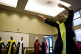 Gloria Goodman (cq) of The Redeemer Dancers from the church of the Holy Redeemer performs a...