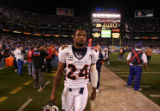 (0972) Champ Bailey walks off the field at the end of the fourth quarter of the Denver Broncos...