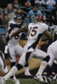 JPM229 Denver Broncos Jay Cutler passes to Brandon Marshall in the first quarter against the...