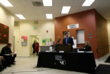 (PG4339) Homeless service providers hold a press conference at the Colorado Coalition for the...