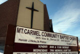 Mount Carmel Community Baptist Church at 2575 Vine Street in Denver Wednesday December 17, 2008....