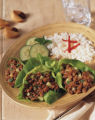 Oriental Express Beef Lettuce Wraps.  Courtesy of The Beef Checkoff.