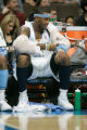 0435 Denver Nuggets forward Carmelo Anthony (15) rests his arms in the fourth quarter after...
