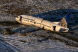 (PG5576) The wreckage of Continental Flight 1404 sits at Denver International Airport in Denver,...