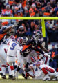 (0158) A filed goal by Rian Lindell is good in the second quarter of the Denver Broncos against...