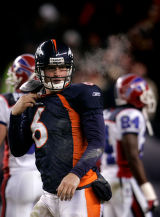 (0861) Jay Cutler after being tackled on scramble in the fourth quarter of the Denver Broncos...
