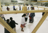 "young and old take to the ice at the ""Chanukah On Ice"" event Monday night, Dec 22, 2008,..."
