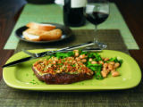 Porcini-Dusted Steaks with Horseradish Crust.  Food trends 2009.  Photo courtesy The Beef Checkoff