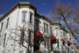 Homes around Denver to show different styles of architecture.  This is Italianate Victorian style,...