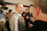 0514 Denver Broncos owner Pat Bowlen introduces Josh McDaniels as the new head coach at Dove...