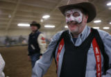 John Ennslin smiles as he exits the ring -- he fought the bull and lived to write about it at the...